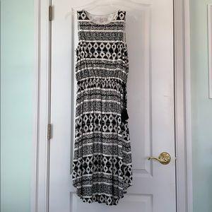 Loft black and white sundress